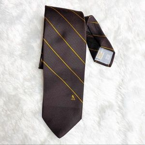 Givenchy Vintage Brown & Yellow Stripe Custom Tie
